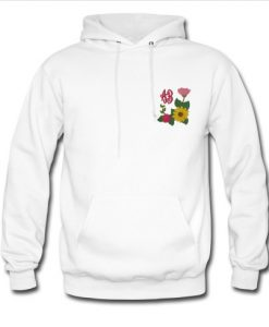 Sunflower Rose Monogram hoodie