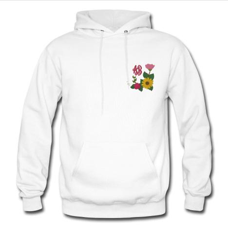 Sunflower Rose Monogram hoodie