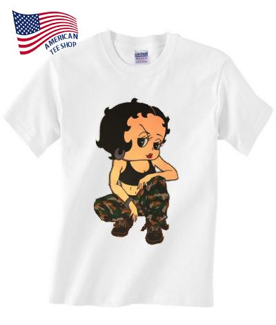 betty boop camo t-shirt