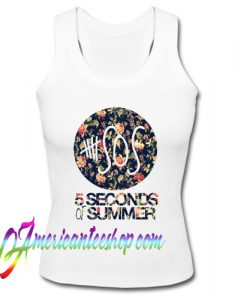 5 SOS 5 Seconds of Summer Floral Logo Tank Top