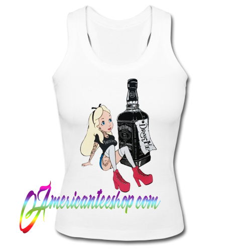 Alice in wonderland drink me jack Daniels Tank Top