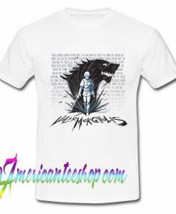 Valar morghulis Arya stark and Game Thrones T Shirt