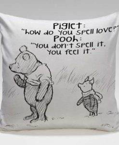 Winnie the pooh quote Pillow Case