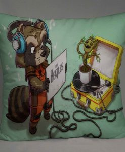 rocket racoon groot Pillow Case