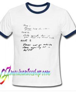 Stranger Things Hoppers Rules Ringer Shirt