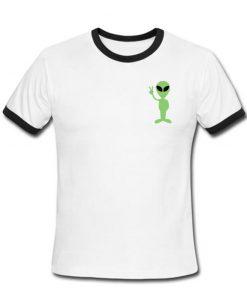 Ufo Alien Ringer Shirt