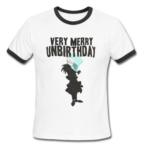 alice in wonderland very merry unbirthday Ringer Shirt