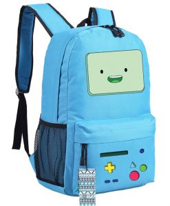 Anime Adventure Time BMO Emoji Printing School Bagspack
