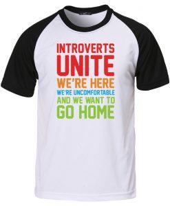 introverts unite baseball shirt