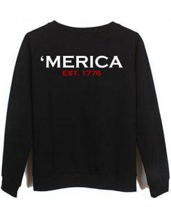 America Sweatshirt Back