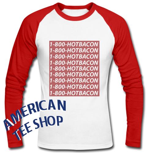 1-800-Hotbacon Raglan Longsleeve
