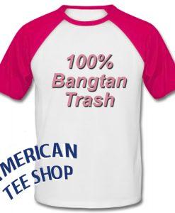 100 % Bangtan Trash Baseball Shirt