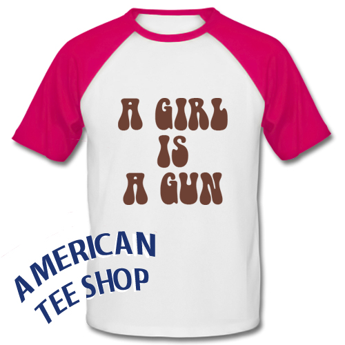 A Girl Is A Gun Baseball Shirt