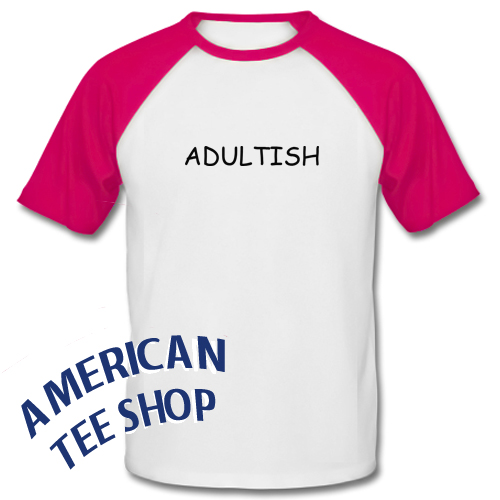 Adultish Graphic Baseball Shirt