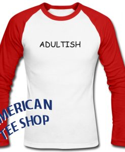 Adultish Graphic Raglan Longsleeve