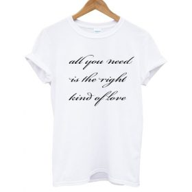 All You Need Is The Right Kind Of Love T shirt