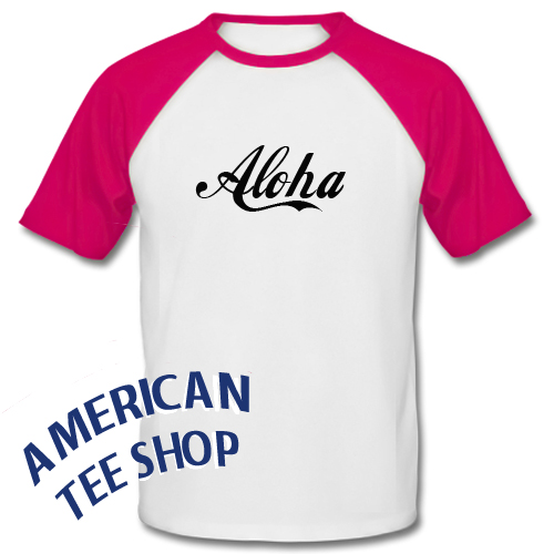 Aloha Graphic Baseball Shirt
