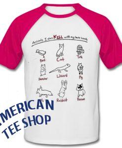 Animals I Can Kill With My Bare Hands Baseball Shirt