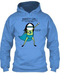 Anxiety Girl by Natalie Dee Hoodie