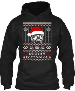 Ugly Christmas Merry Pawsmas Hoodie