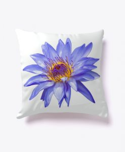 Water Lily Bloom Pillow Case