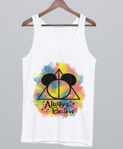 deathly hallows symbol mickey mouse head Tank Top