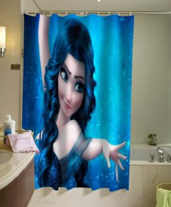 Blue Haired Elsa, Elsa with darker hair Shower Curtain