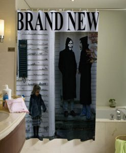 Brand New The Devil And God Are Raging Inside Me shower curtain