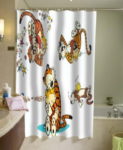 Calvin and Hobbes Shower Curtain