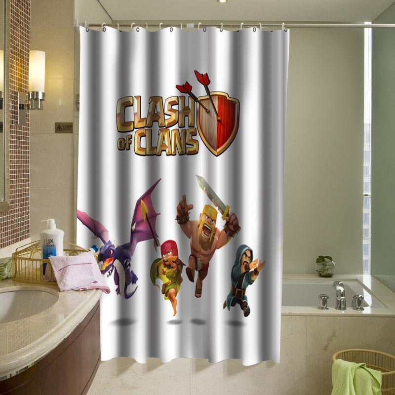 Clash Of Clans Epic Game Shower Curtain