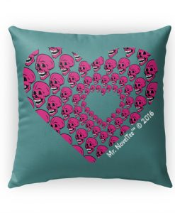 Skull Of Hearts Pillow Case