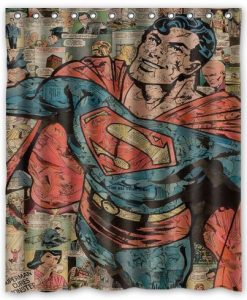 Superman Superhero Comic Shower Curtain
