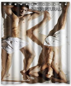 Supernatural Sam and Dean Cool Shower Curtain