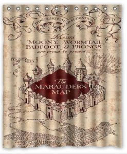 The Marauders Map Harry Porter Shower Curtain