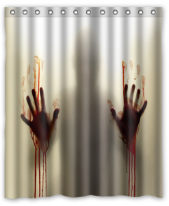 The Walking Dead Blood Shower Curtain