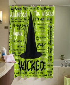 Wicked Wicked Lyrics Shower Curtain