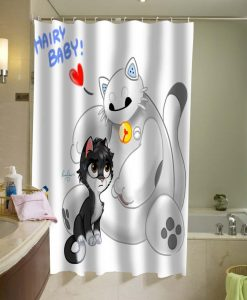 baymax and hiro Shower Curtain