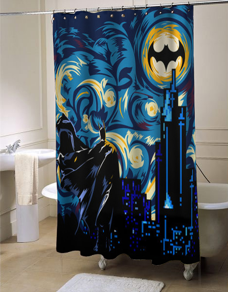 Inspired by BATMAN, Superheroes Shower Curtain, Superheroes decor, Dark Knight Shower Curtain