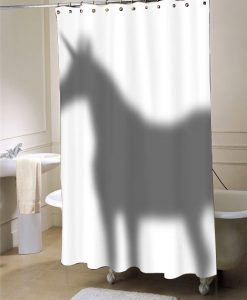 Unicorn In The Shower Curtain Shadow