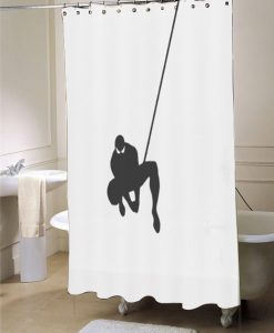 Web Slinging Spiderman Shower Curtain