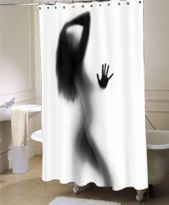 Woman Silhouette Shower Curtain