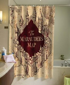 The Marauder's Map Shower Curtain