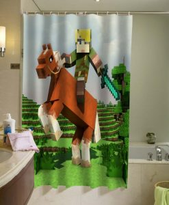 The legend of Zelda Brick Game Shower Curtain
