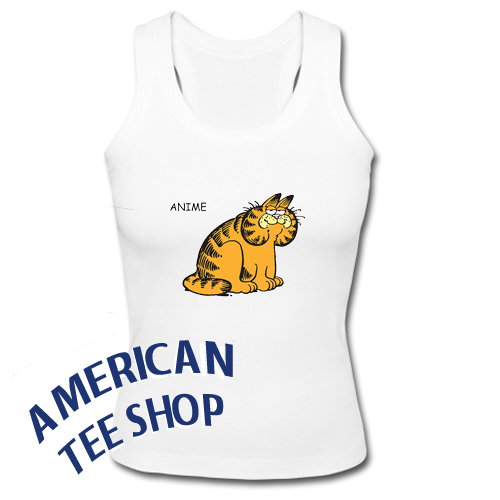 Anime Garfield Tank Top