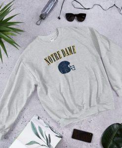 Vintage Notre Dame Football Crewneck Sweatshirt