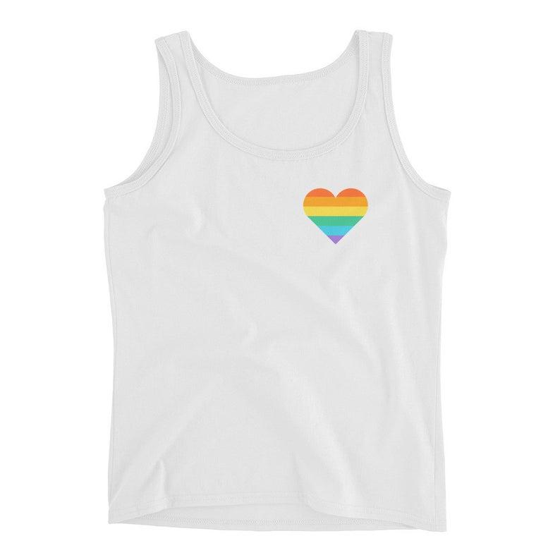rainbow heart tank top