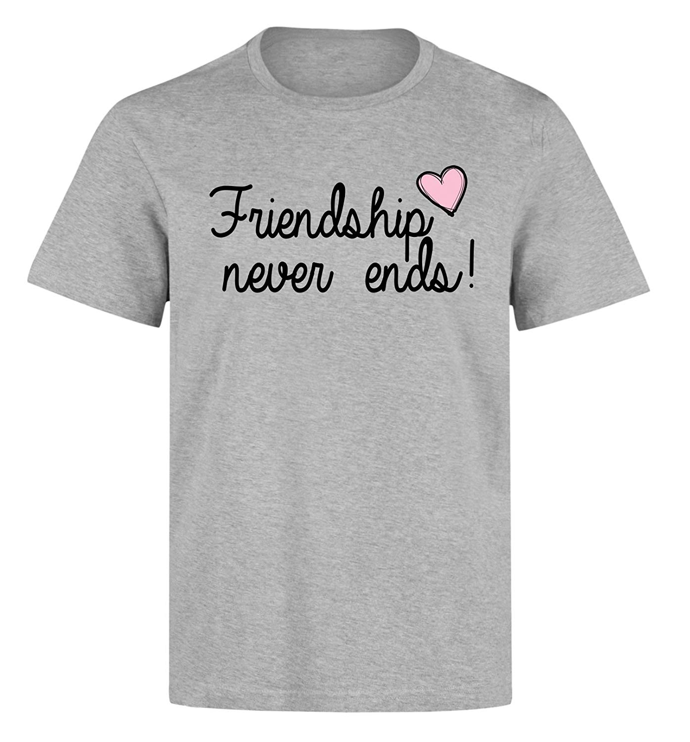 Friendship never ends pink heart Tshirt