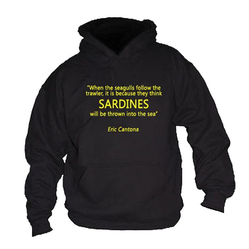 Eric Cantona Sardines Quote Hoodie