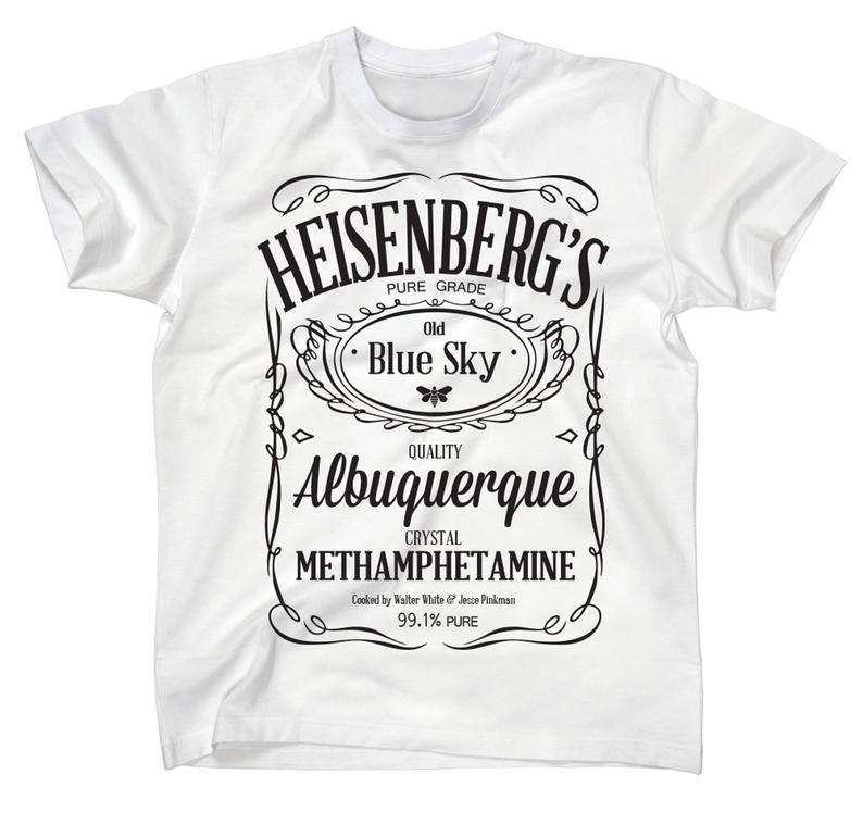 Heisenberg's Blue Sky Crystal Meth JD Style Breaking Bad T-Shirt