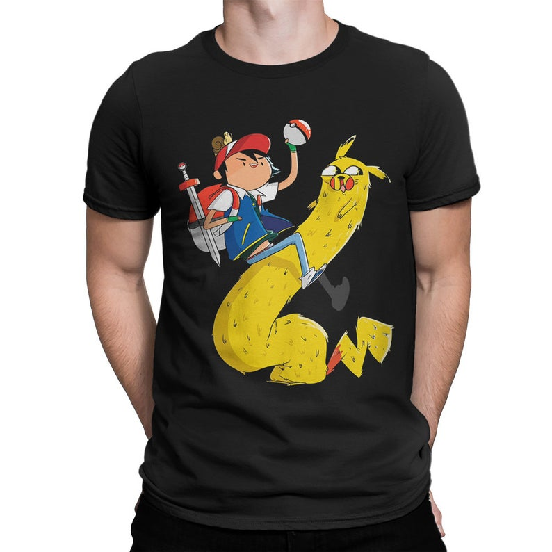 Adventure Time x Pokemon Combo T-Shirt